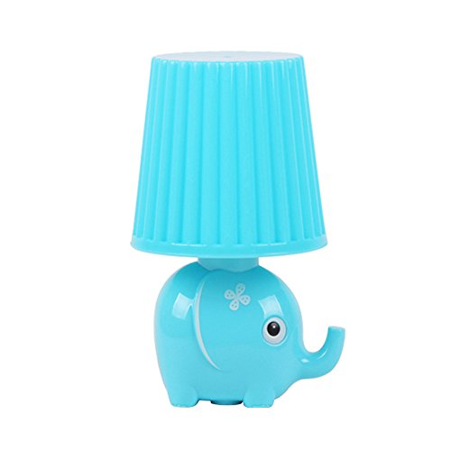 LED Plug in Night Light for Kids-Elephant Intelligent Light Sensor Auto Control LED Wall Lamp for Baby Child Nursery (Elephant-Blue)
