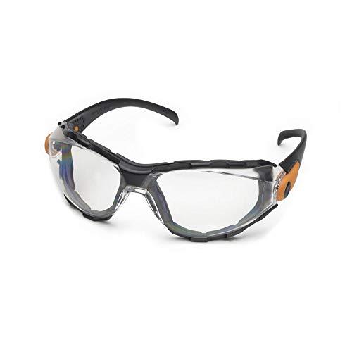 y Glasses-Black Foam Lined Frame-Clear Anti-Fog Lens (Bundle of 3) - GG-40C-AF ()