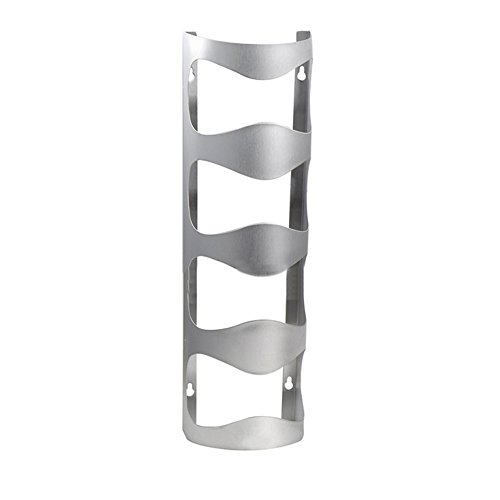 Delight eShop Stainless Steel Wine Rack Bar Decor Wall Mounted Holder 3/4 Bottles Stand New (Four Layers)