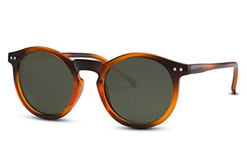 Ca Noir Hommes 003 Sunglasses Rétro Lunettes Femmes Connaisseur Brun Cheapass Rondes Multicolore Miroitant 1vt4wx