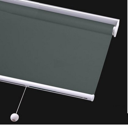 PASSENGER PIGEON Cordless Thermal Insulated Roller Shades, Blackout Bathroom Roller Window Shades, Custom Made Oil Proof Water Proof UV Protection Kitchen Blinds,40″ W x 60″ L,Dark Grey Shades