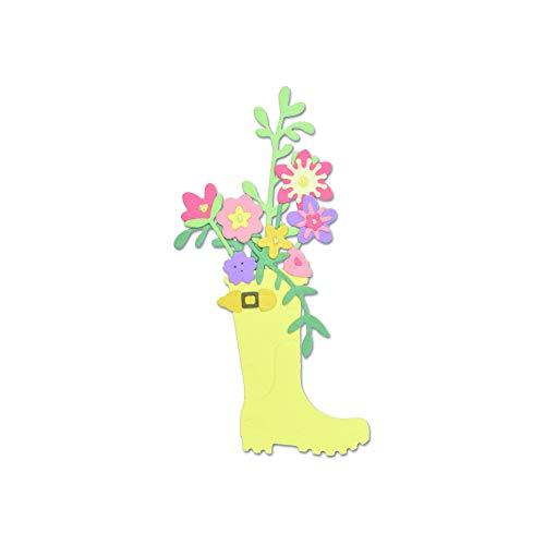 Sizzix 663322 Rain Boot Planter Dies, One Size, Multicolor (Planter Rain)