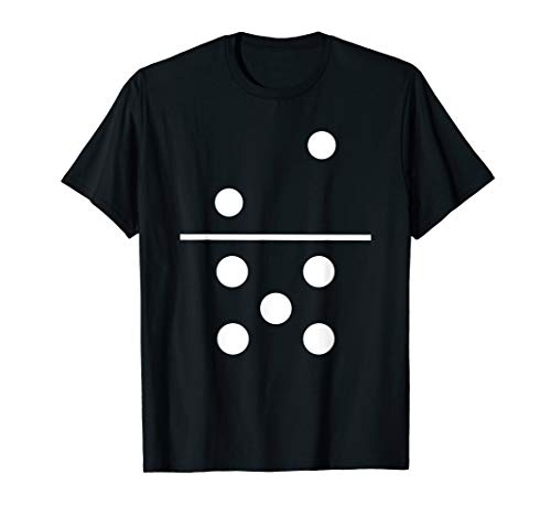 Domino 2 and 5 Matching T-Shirt Halloween Group Costumes 2-5 -