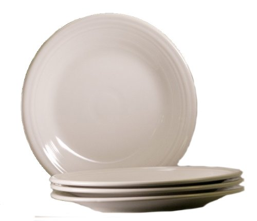 Fiesta 10-1/2-Inch Dinner Plate, White, Set of 4