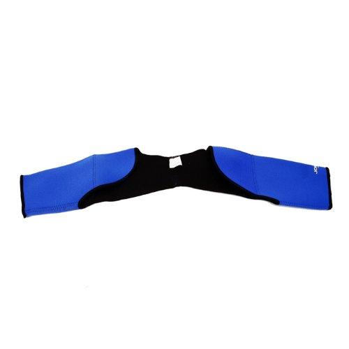 JOEDEX Double Shoulder Support Neoprene Protector Wrap Brace, Three Size, Blue (Large)