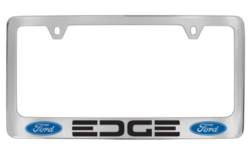 Ford Edge Chrome Plated Metal License Plate Frame Holder ()