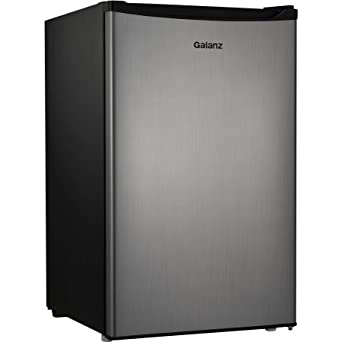 Galanz 3.5 Cu Ft Compact Single Door Refrigerator, Stainless Steel