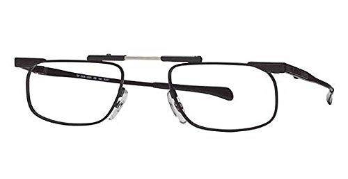 SlimFold Reading Glasses by Kanda of Japan Model 5 Color Black Strength (Japan Slimfold Model)