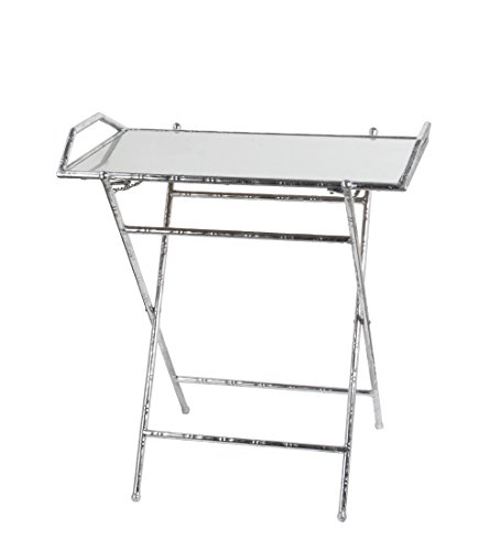 Privilege 18952 Folding Tray Leaf Table, Silver by Privilege