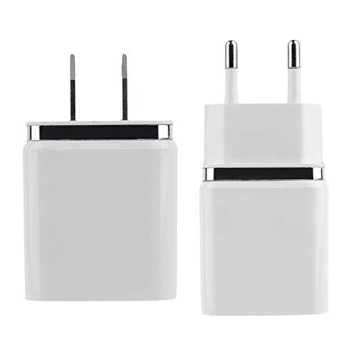 Appareil Photo num/érique et Autres p/ériph/ériques USB iPhone Chargeur Mural de Voyage en Plastique Blanc /à 4 Ports USB avec Adaptateur Multi-Usage Prise EU pour iPod