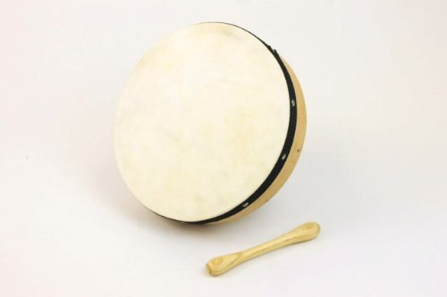 10'' Plain Irish Celtic Bodhran Drum + Beater by 1To1Music