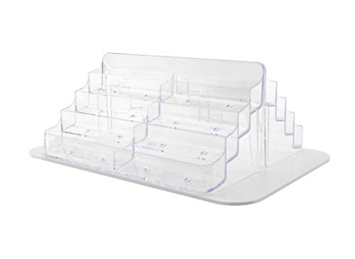 Marketing Holders Counter Business Card Rotating Display Stand Multi Pocket Spinner Space Save Clear Acrylic Pockets 16 Slot Card Carousel