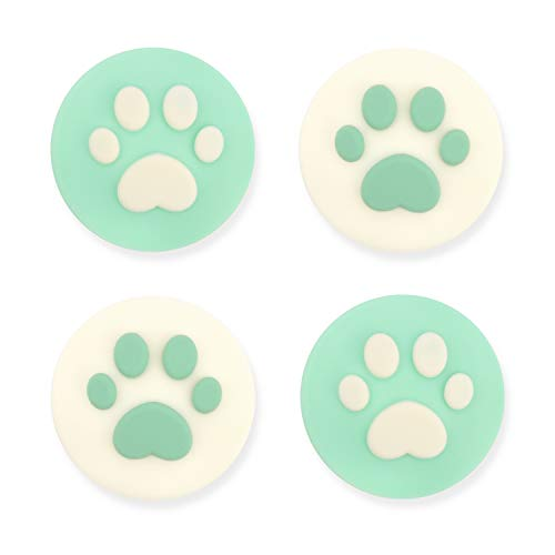 Geekshare 4PCS Silicone Sakura Paw Joy Con Thumb Grip Set Joystick Caps Switch and Switch Lite Cover Analog Thumb Stick Grips (Cat Claw 12)