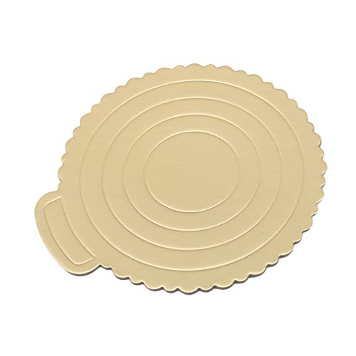 Meoliny Round Cake Boards Portable Cardboard Scalloped Cake Circle Base for Cook,10.83 9.84inch by Meoliny (Image #2)