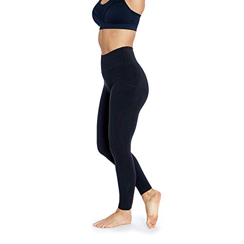 Marika Cotton Pants - Women's Activewear Control Top Leggings | Designer Quality High Waist Yoga Pants with Tummy Control & Pocket | 27