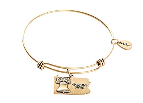 BellaRyann State Expandable Bangle Charm Bracelet in Vintage Gold (Pennsylvania)