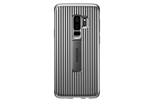 (Samsung EF-RG965CSEGUS Galaxy S9+ Rugged Military Grade Protective Case with Kickstand, Silver)