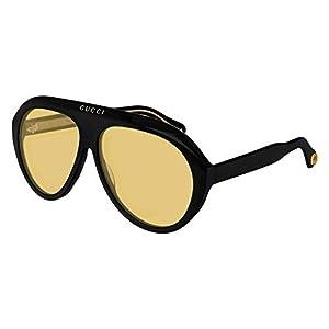 Sunglasses Gucci GG 0479 S- 002 BLACK/YELLOW