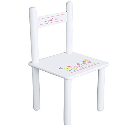 Personalized Stemmed Flowers Child's Chair - ()