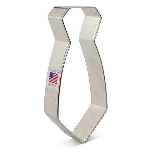 Neck Tie Cookie Cutter - 4.75 Inch - Ann Clark - USA Made Steel