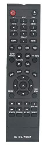 NC180 NC184UH Replaced Remote fit for Sanyo DVD Recorder VCR FWZV475F