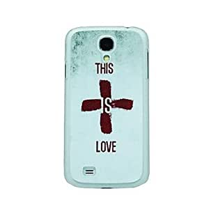 FJM This Is Love Pattern Hard Case for Samsung Galaxy S4 I9500