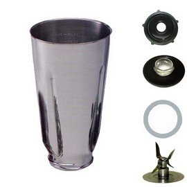 Univen 5 Cup Stainless Steel Complete Blender Jar fits Oster Blenders