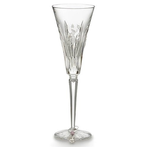 Waterford Crystal 9th Edition 12 Days of Christmas Champagne Flute,Nine Ladies (Dancing Lady Stems)
