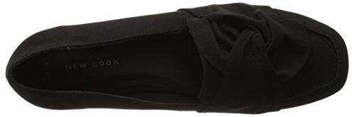 New Look Knotty 2-Knot, Zapatillas para Mujer Negro (Black)