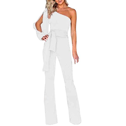 Minisoya Women Long Sleeve Off Shoulder Jumpsuit