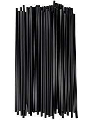 Choice Stirrers/Sip Straws for Coffee, Cocktail 7 1/2'' Unwrapped (Black, 1 000) by choice (Image #1)