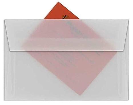 amazon com white translucent vellum a9 envelopes 25 pk