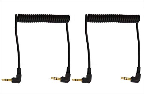 - Mini Skater 3.5mm Coiled Audio Cable 90 Degree Male to Male Headphone Cable Stereo Aux Audio Extension Coiled Cord,2PCS
