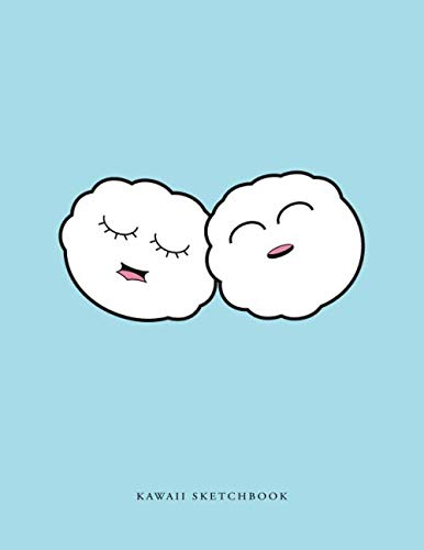 Kawaii Sketchbook: Cute Cloud Puff Rice Ball Designed Blank Notebook for Doodling