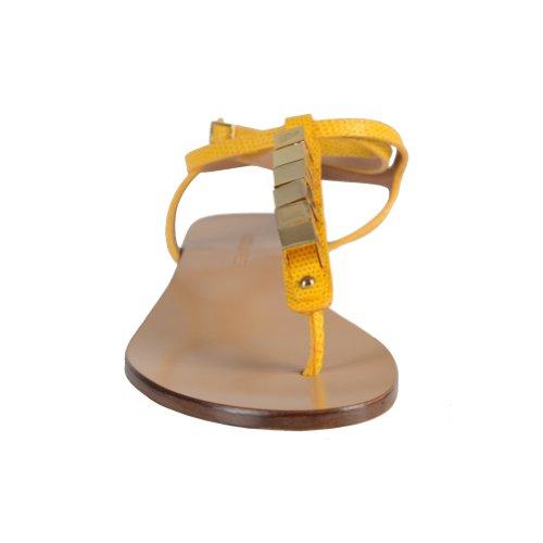 Dsquared Womens Yellow Wrap Around Sandali Con Cinturino Alla Caviglia Giallo