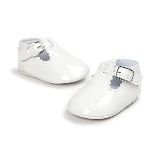 Zapatos Bebé SMARTLADY Infantil Recién Del Niño Niñas Primeros pasos Zapatillas Blanco
