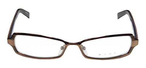 Etro Ve9575 Womens/Ladies Designer Full-rim Spring Hinges Eyeglasses/Eyewear (52-15-140, Bronze / Brick - Etro Eyewear