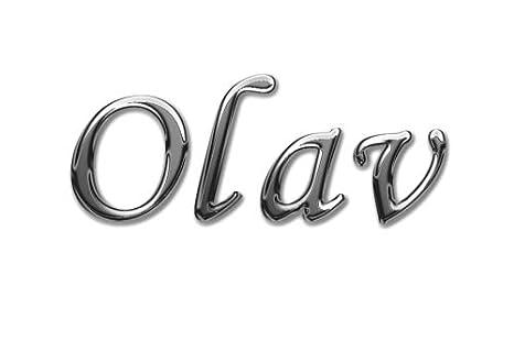 Olav Bierkrug mit Namen mit Namens-Motiv Chrom-Schriftzug