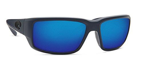 Costa Del Mar TF14OBMP Fantail Unisex Midnight Blue Frame Blue Mirror Lens Wrap - Mar Costa Kids Del