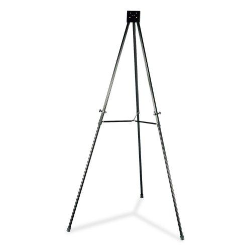 Wholesale CASE of 5 - Lorell Telescoping Aluminum Easel-Telescoping Aluminum Easel, Adjust Legs, 66'', Black