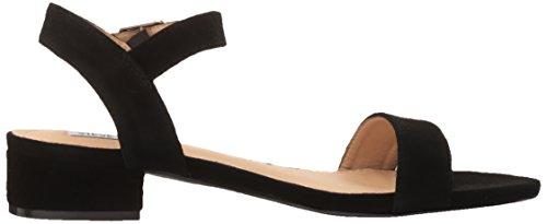 41rh9hj2UOL Steve Madden Women's Cache Flat Sandal, Black Suede, 9 M US