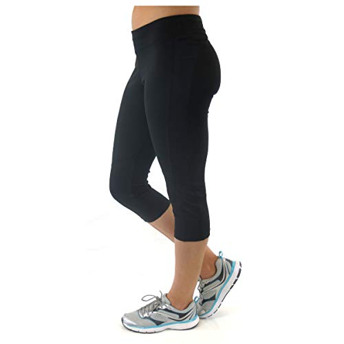 Alex + Abby Women's Plus-Size Advantage Capri Legging 2X Black/Black