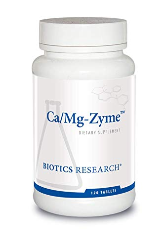 Biotics Research Ca/Mg-Zyme - 300 mg Calcium Citrate, Magnesium, Highly Absorbable, Tablet Form, Raw Organic Vegetable Culture, Bone Health, Heart Health, Weight Management 120ct