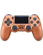 Controle joystick PS4 sem fio primeira linha - bluetooth, função de vibração dupla, conector de áudio para PS4 - Várias cores (Bronze)