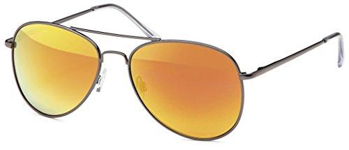 Verspiegelt Hatstar Schwarz de Orange sol para Glas hombre Gafas 73 Rahmen 11aqrxvO6