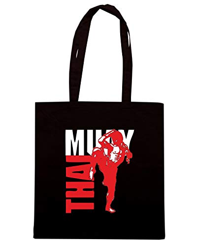 Speed Shirt Borsa Shopper Nera TBOXE0089 MUAY THAI FIGHTER01C