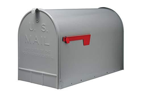 Gibraltar Stanley (ST200000) Post Mount Jumbo Mailbox, Galvanized Steel - Silver Gray (Renewed) ()