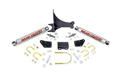 Country Dual Steering Stabilizer (Rough Country - 87491.20 - Dual Steering Stabilizer w/ Premium N2.0 Shocks)