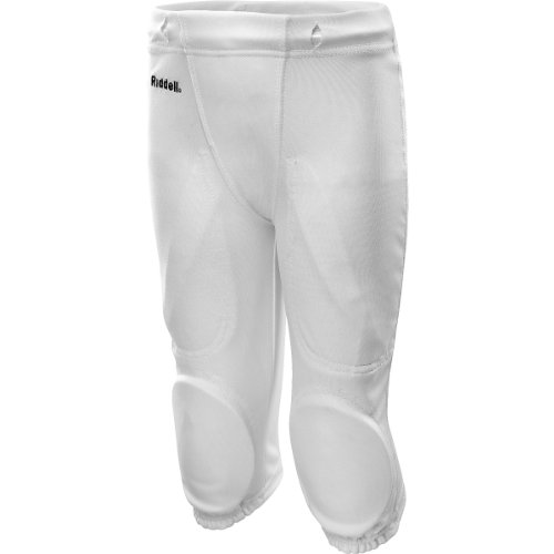 ated Knee Practice Football Pants - Size: Youth XL/Extra Large, White ()