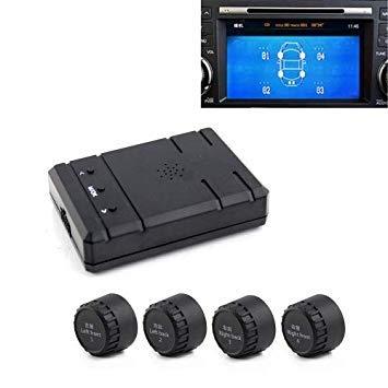Uniqus PZ805-E Video TPMS External Tire Pressure Monitor with 4 External Sensors